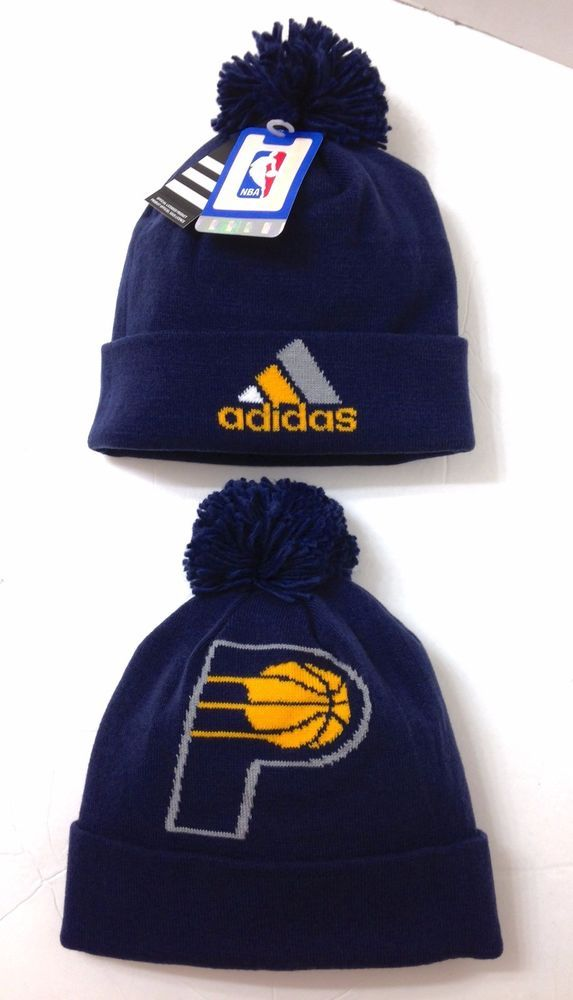 22 adidas® INDIANA PACERS POM BEANIE Navy Cuffed Winter Knit Ski Hat Men  Women  adidas  IndianaPacers 4b9582154d