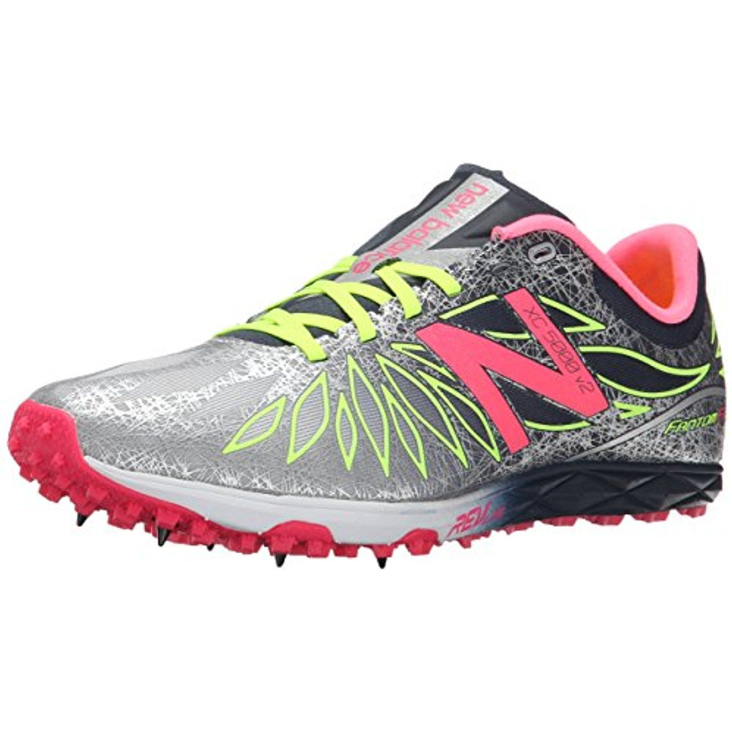 New Balance Women's WXC5000 Cross Country Spike Shoe,Yellow/Red,11 B US