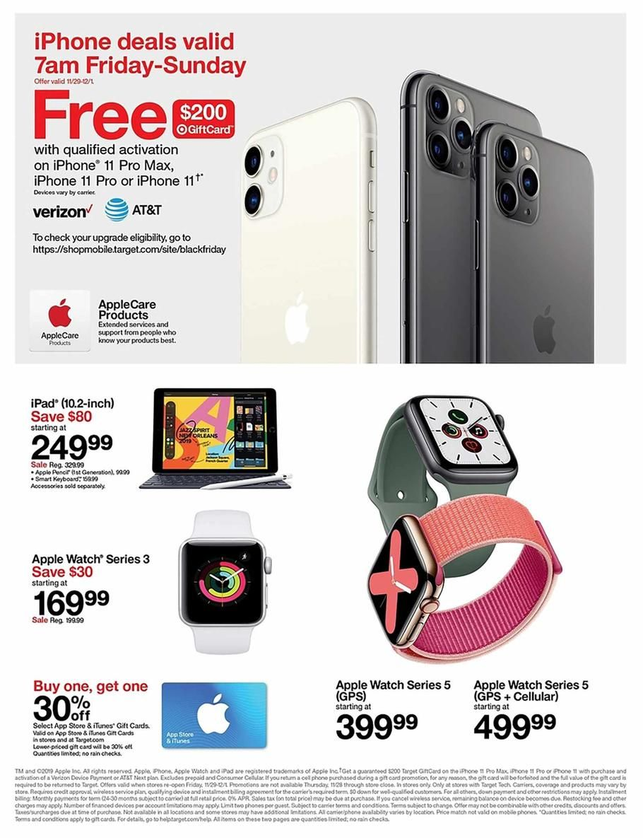 Target Black Friday Ad Scan Deals And Sales 2019 Black Friday Target Iphone Deals Black Friday