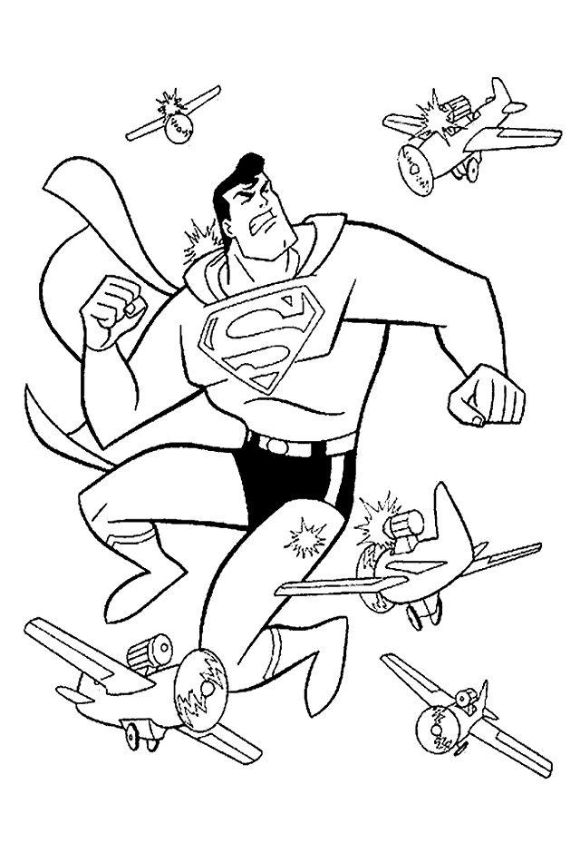 Dibujos para Colorear Superman 5 | SuperHeroes | Pinterest ...