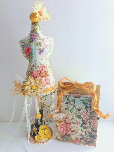 A Secret Garden Dressform Pincushion & A Grower's Tag by Katie Zoey Ho #graphic45