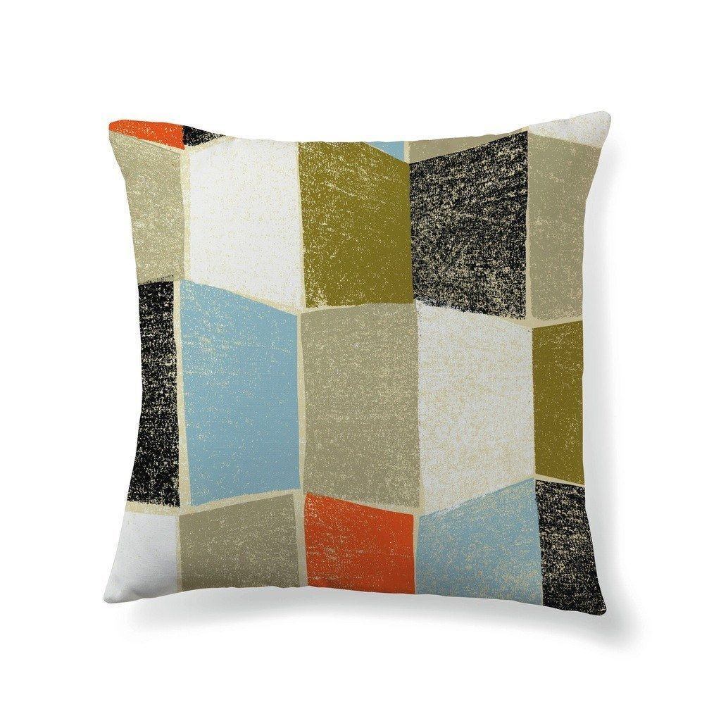 Textured color block rectangles products pinterest throw