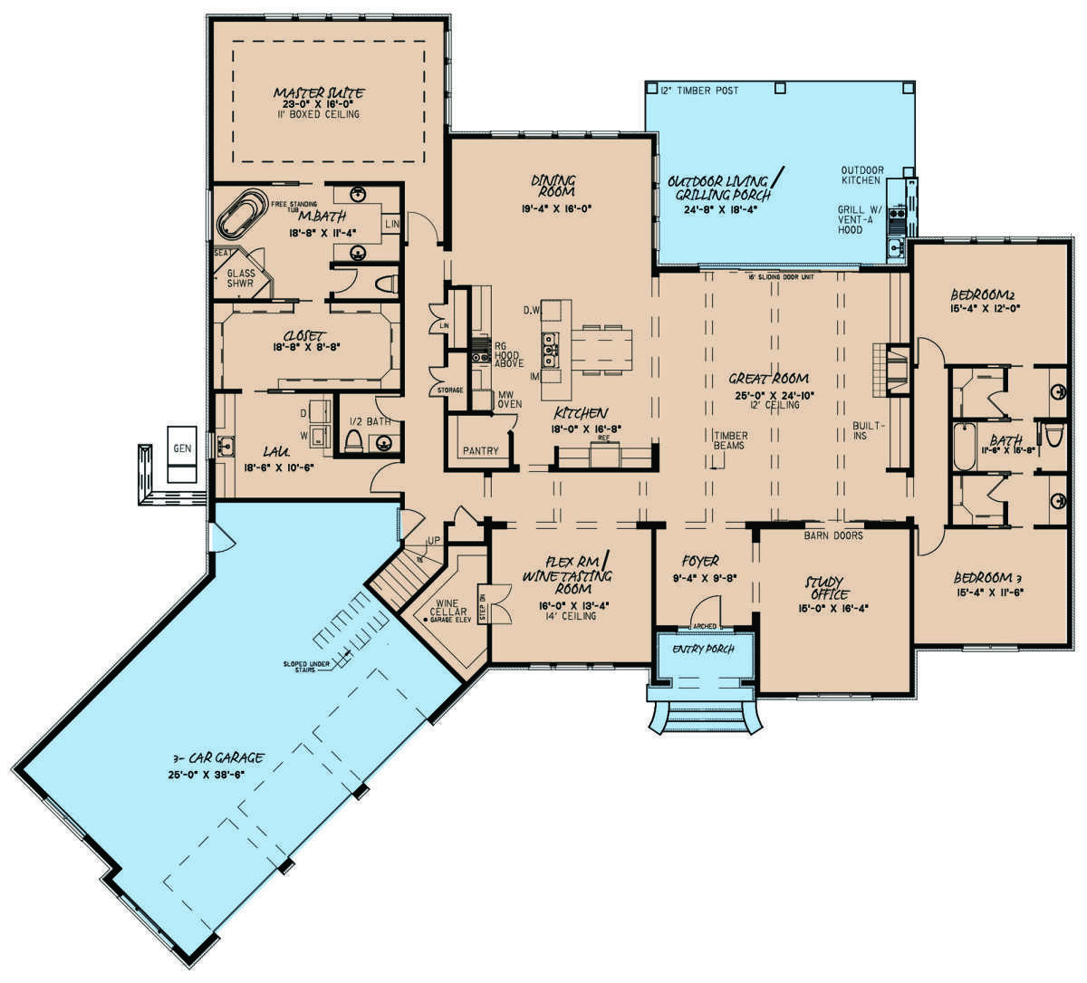 House Plan 8318 00138 European Plan 3 982 Square Feet 3 4 Bedrooms 3 5 Bathrooms Garage House Plans European Plan European House Plans