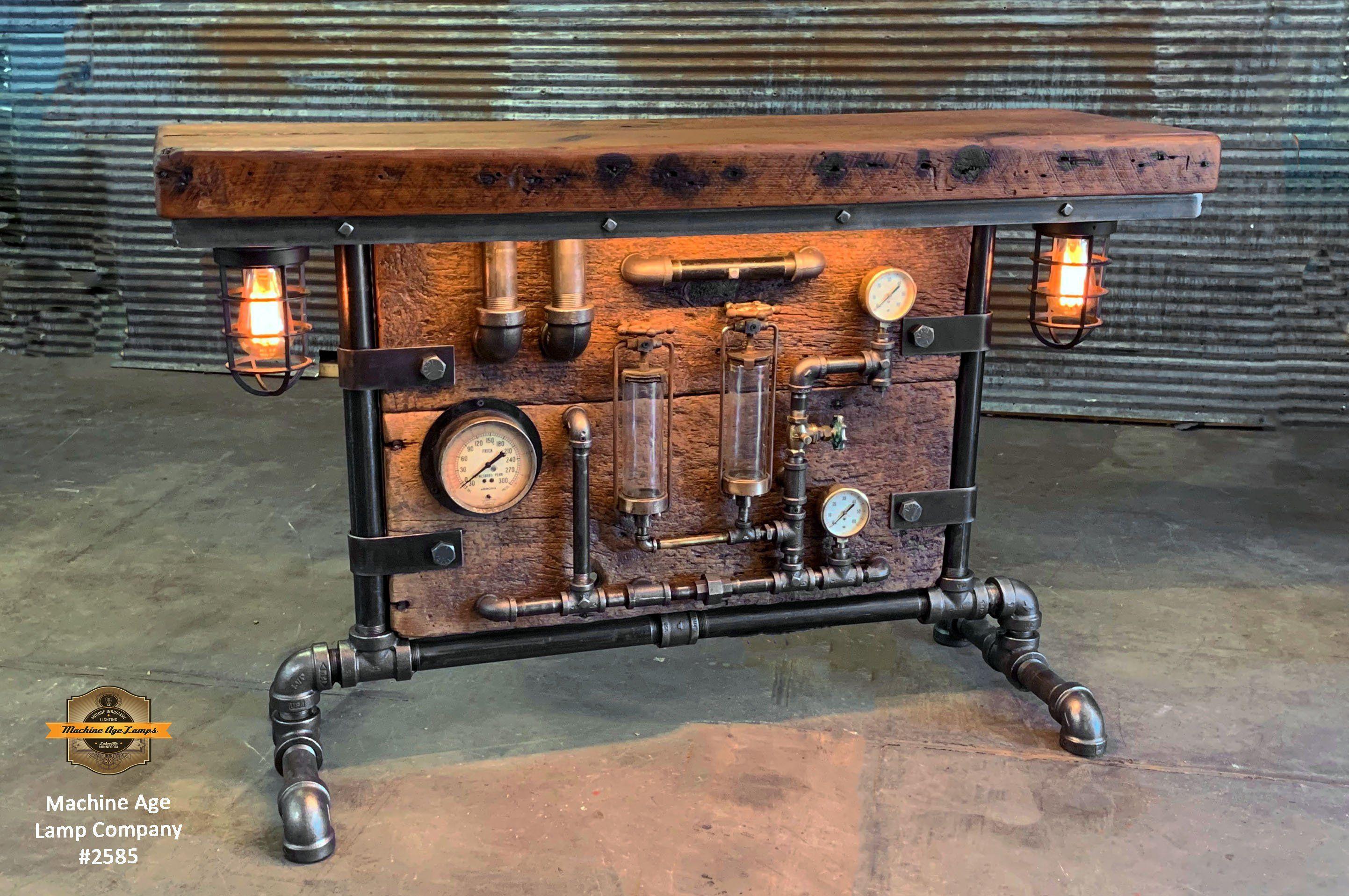 Steampunk Industrial Antique Boiler Stove Door Steam Gauge