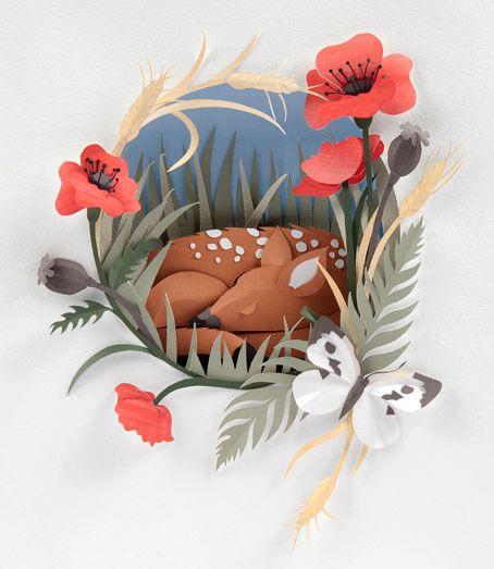 paper illustration - Sanctuary http://www.helenmusselwhite.co.uk/