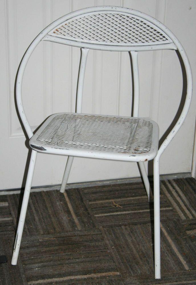 Set Of 4 Vintage Rid Jid Folding Hoop Disk Chairs Mid