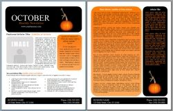 Free Newsletter Templates Word | Free Cut And Paste Halloween Newsletter Template Parents Using A