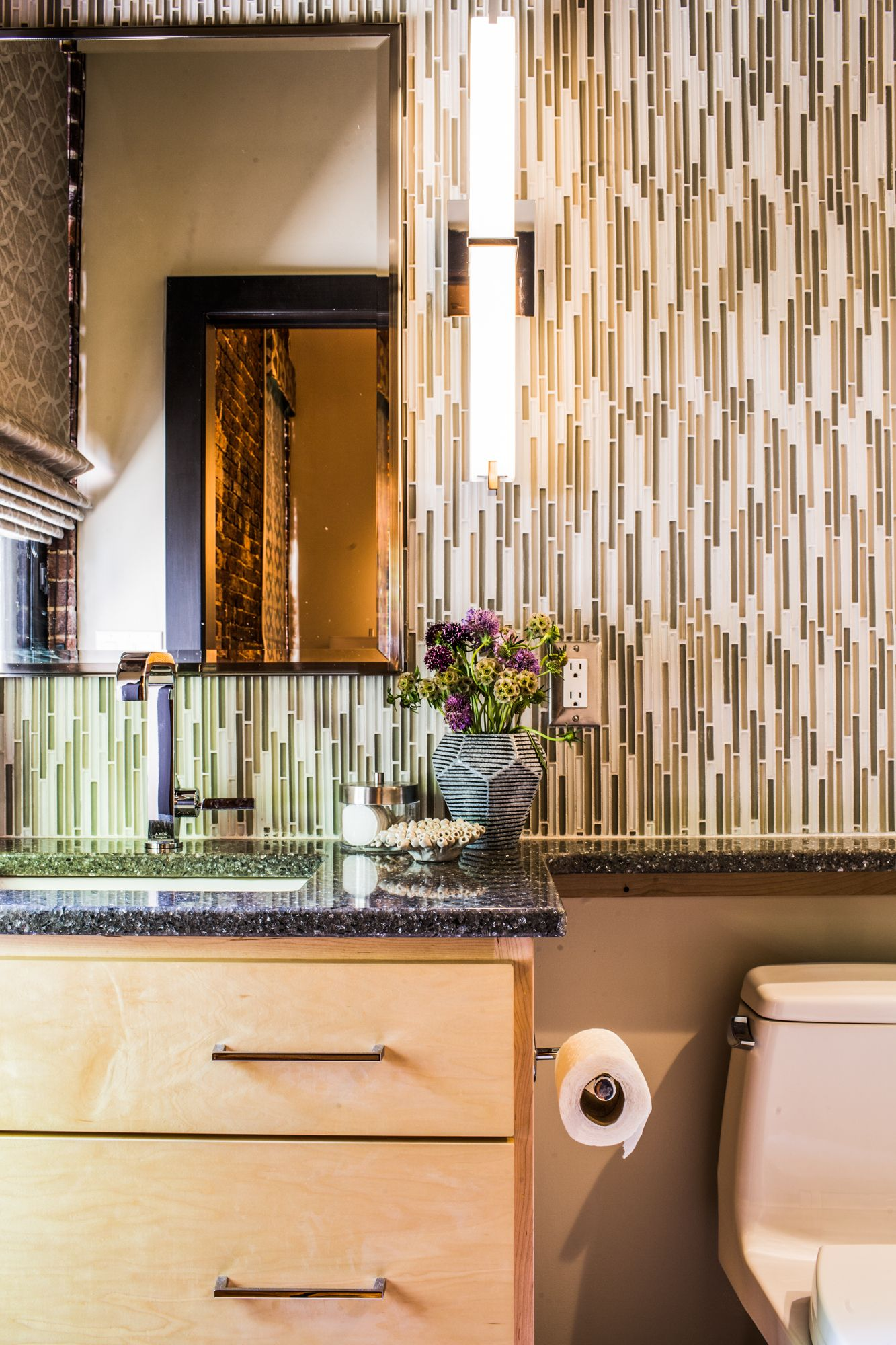 Gorgeous Tile In Powder Room Boutique Interior Design Interior