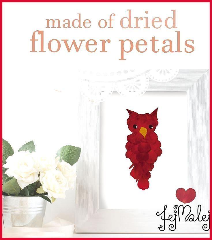Eule aus getrockneten Blumen natürliche Kunst Die Post Eule aus getrockneten Blumen – Eule gemacht …