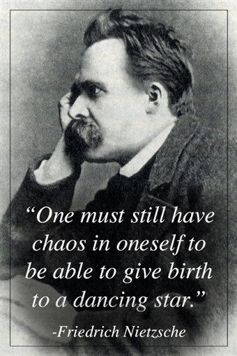 Citation Nietzsche Chaos : Original friedrich nietzsche quote poster inspirational motivational