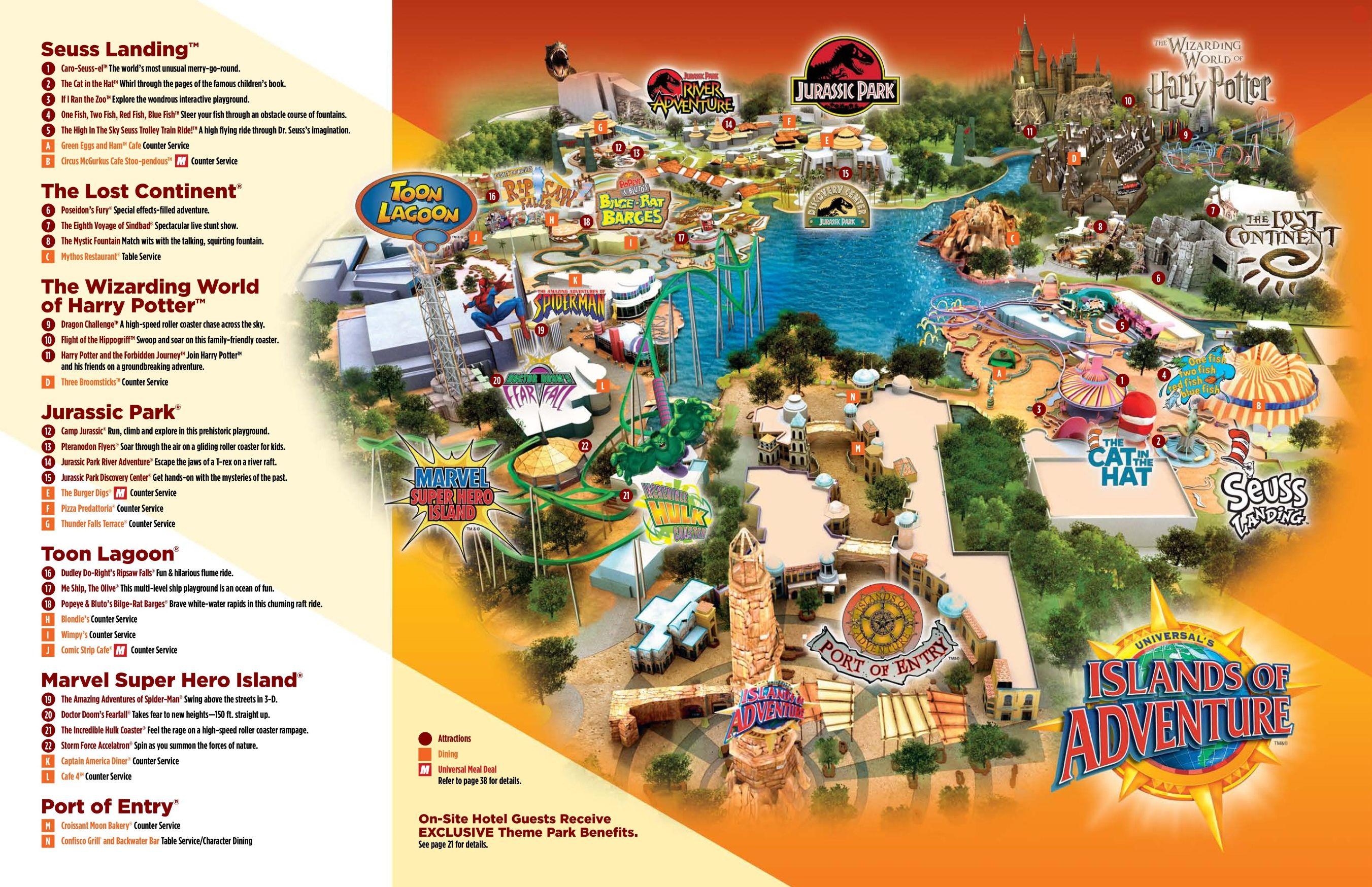 Orlando Islands Of Adventure Map Islands Of Adventure Adventure Map Island Of Adventure Orlando