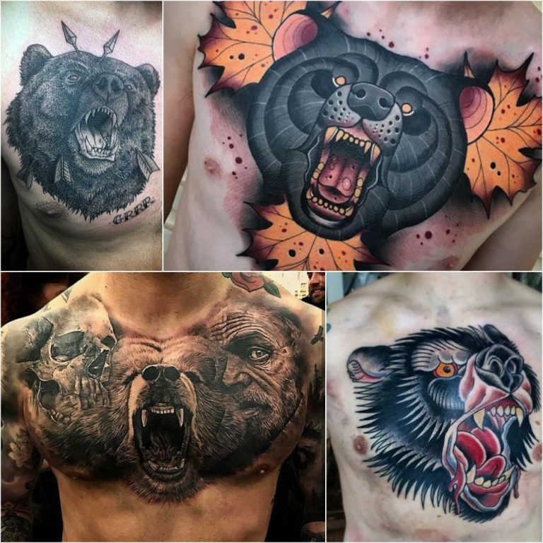 49++ Awesome Bear chest tattoo meaning ideas