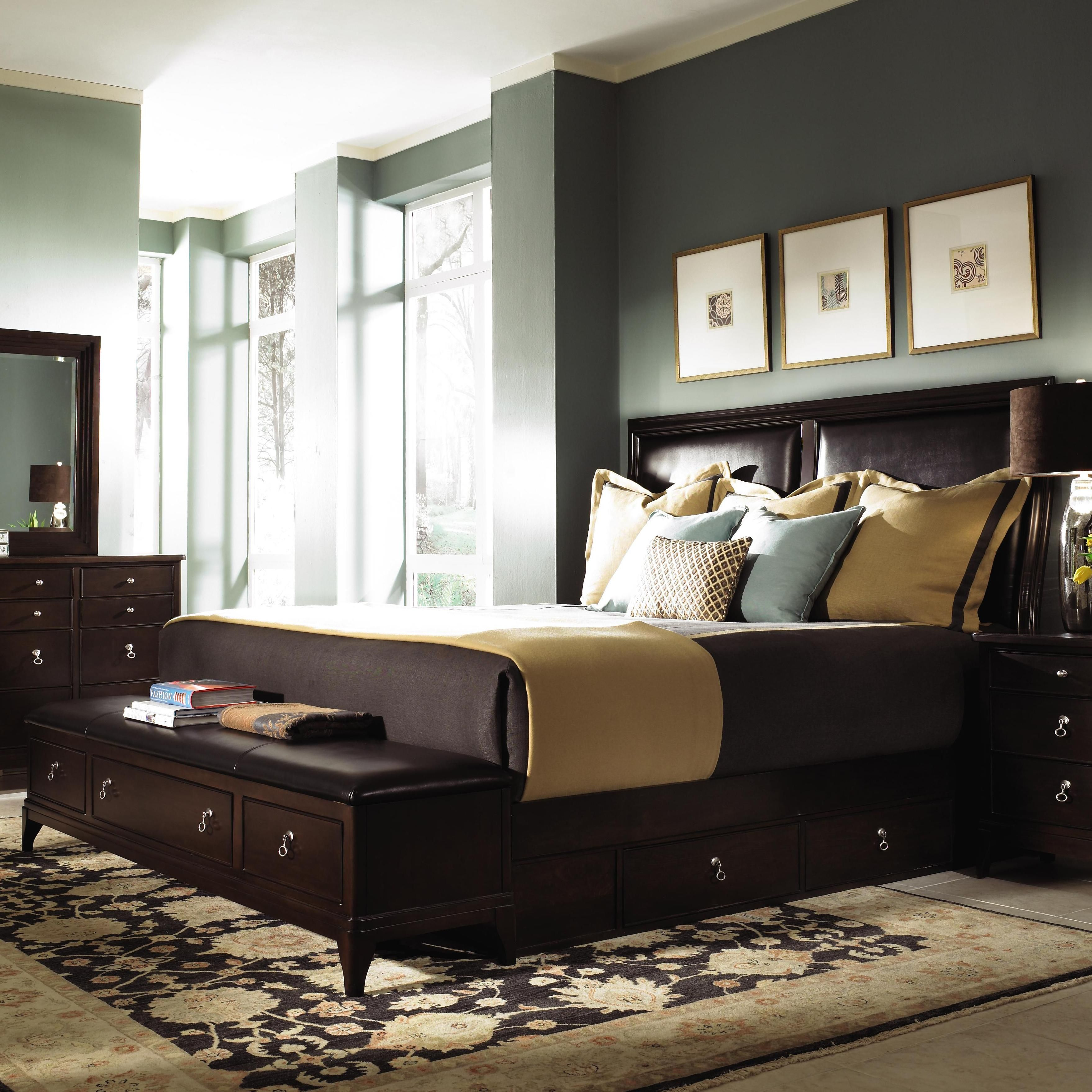 Incredible King Bed Bench Storage With Bedroom Size