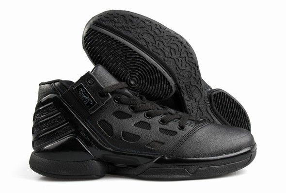 Adidas Adizero Rose 2.0 All Black#Basketball shoes#sale on http://