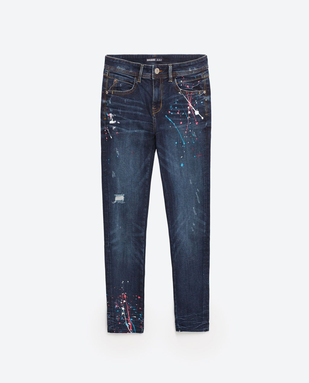 cf4adf0c Image 8 of MID RISE PAINT SPLATTER JEANS from Zara | zara 4ever in ...