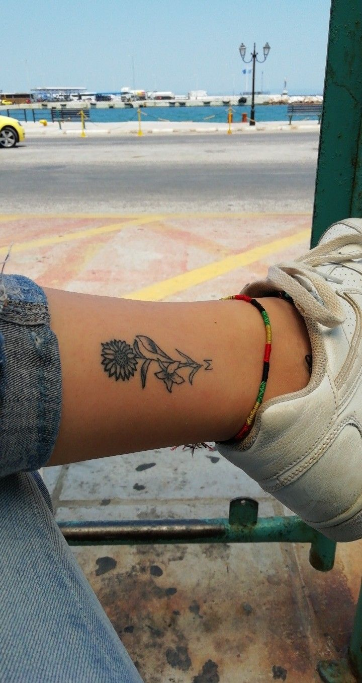 Photo of #sunflower #tattoo #meaning #leg