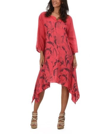 I would actually look good in this red Sheryl Linen Dress by Couleur ...