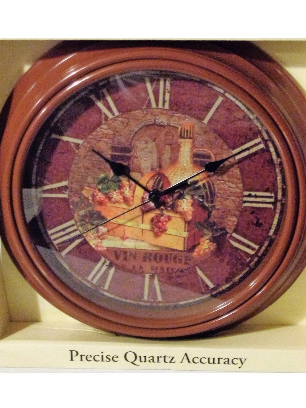 Vin Rouge Basket Of Grapes Wine Kitchen Wall Clock 24 95 Fine As