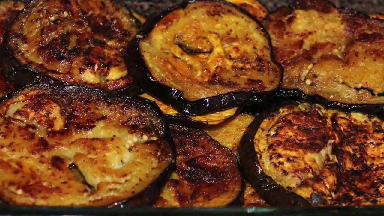 قلى الباذنجان بملعقة زيت والطعم جنااااان وفرى الزيت وحافظى على صحتك Eggplant Cooking How To Prepare Eggplant