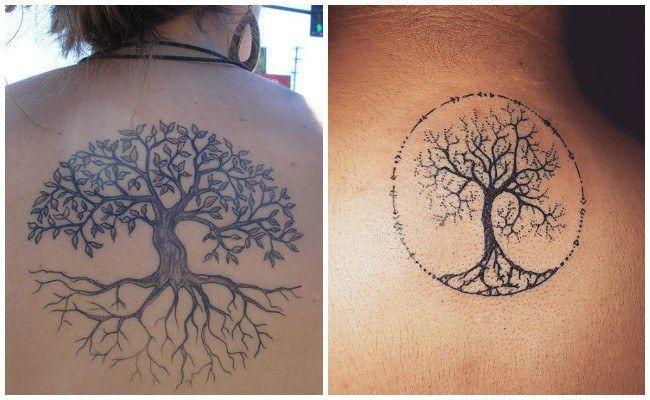 Tatuajes De árbol De La Vida Con Nombres Tatus Pinterest