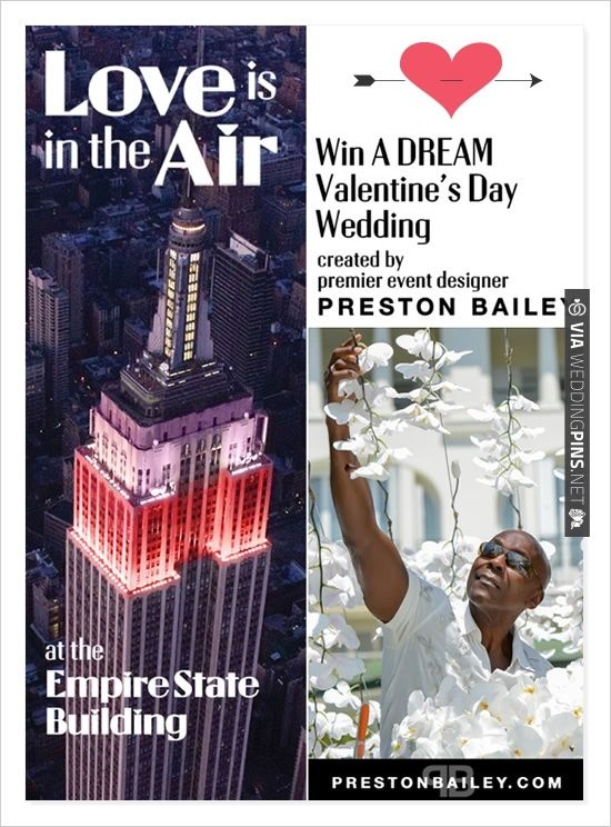 win a dream wedding at the empire state building with preston, Ideas
