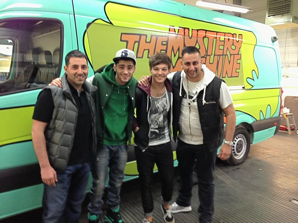 Image result for one direction mystery machine