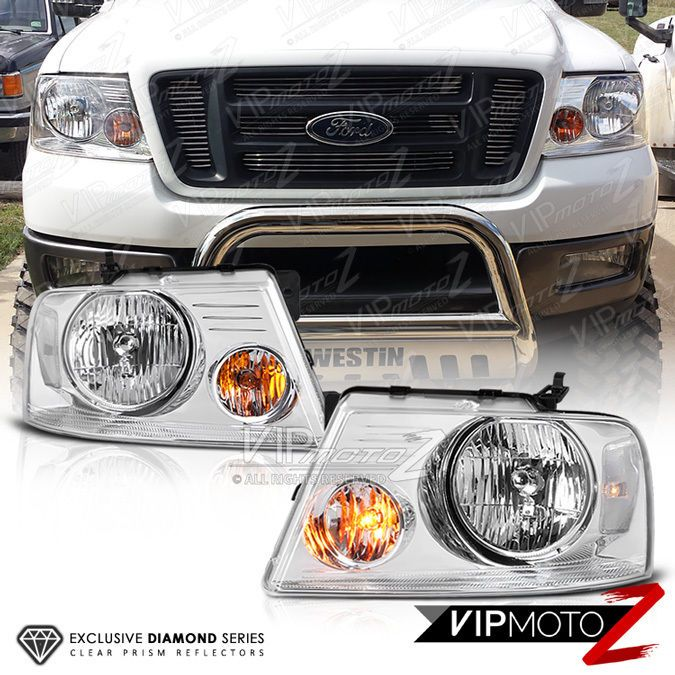 2004 2005 2006 2007 2008 Ford F 150 Front Headlights Lamps Pair Chrome Clear New Ford F150 Pickup Ford F150 Ford Trucks F150