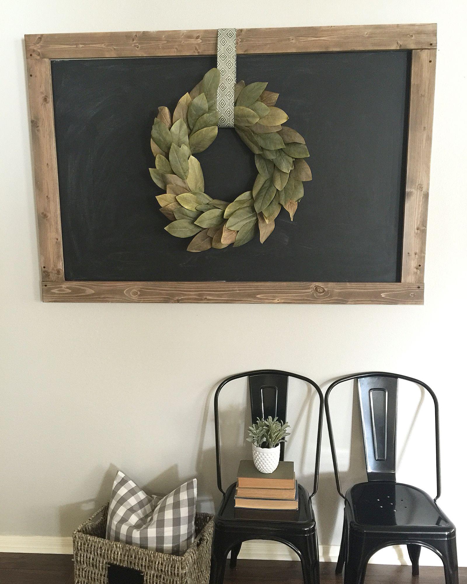 Photo of DIY große Tafel und Magnolienkranz