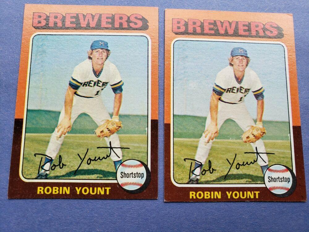 1975 topps baseball milwaukee brewers robin yount rookie
