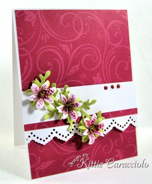 card with mini lilies by Kittie Caracciolo