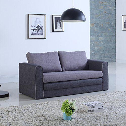 Groovy Modern 2 Tone Modular Convertible Sleeper Grey Dark Grey Theyellowbook Wood Chair Design Ideas Theyellowbookinfo