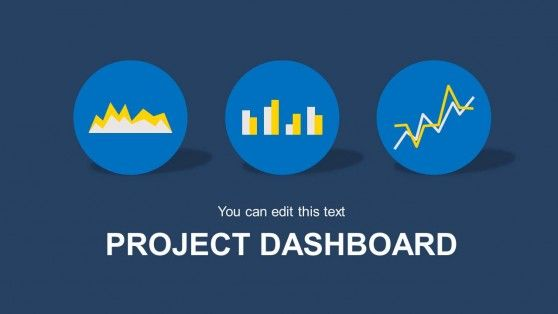 blue project dashboard powerpoint template | project dashboard, Modern powerpoint