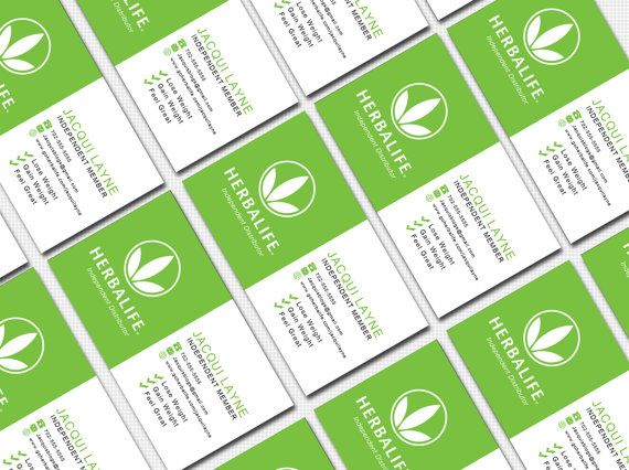 Green and white herbalife business card by wackyjacquisdesigns herbalife business card digital template by wackyjacquisdesigns cheaphphosting Gallery