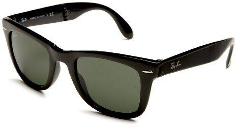 b11dc2d1966 Amazon.com  Ray Ban RB4105 Fold Wayfarer Sunglasses-6022 30 Black (Gray  Mirror Lens)-50mm  Ray-Ban  Shoes