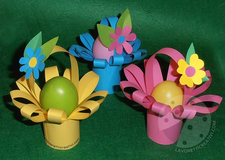 Bambini Pasqua ~ Lavoretti di pasqua per bambini cestini pasquali di carta easter