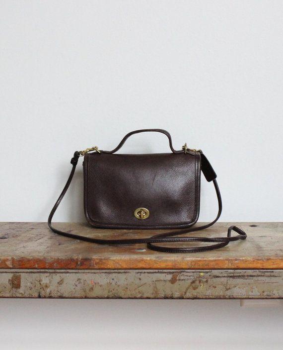 bb64245d5f Vintage Coach Bag    Mini Messenger Bag in Brown 9924    Coach ...