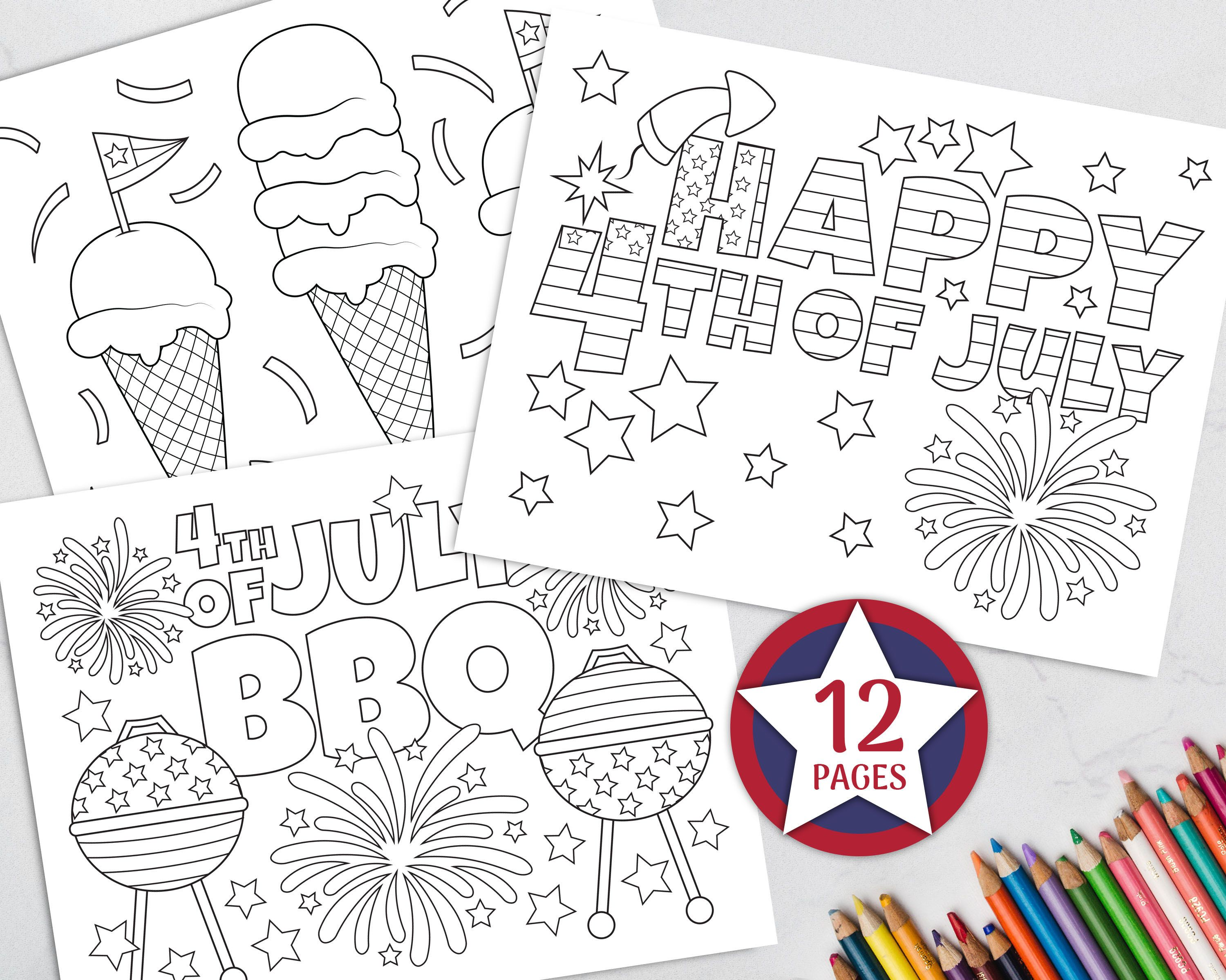 Printable 4th Of July Coloring Pages For Kids Independence Day Coloring Pages Summer C Fathers Day Coloring Page Summer Coloring Pages Summer Coloring Sheets [ 2400 x 3000 Pixel ]