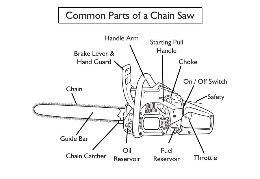 Image Result For Parts Of A Chainsaw