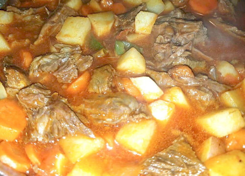 Carne ranchera #carneconpapas
