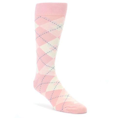 5ef78a1e0151 Blush Bellini Ballet Pink Argyle Men's Dress Socks - Statement Sockwear