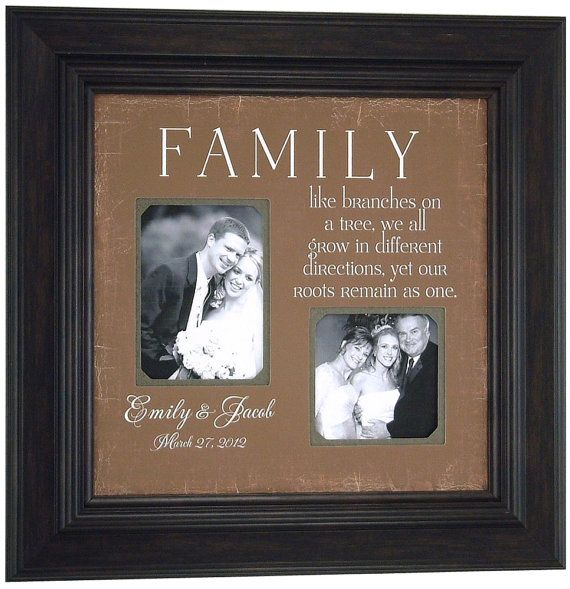 Personalized Wedding Photo Frame Bride Groom Gift FAMILY Like Branches For Parents 16