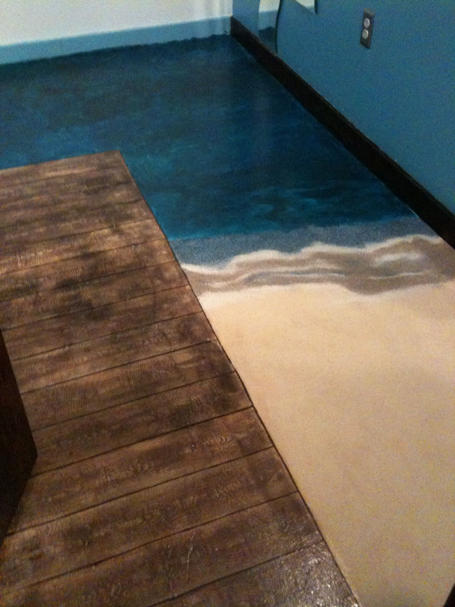 This Is A Concrete Floor That I Painted With Latex Paint And Faux