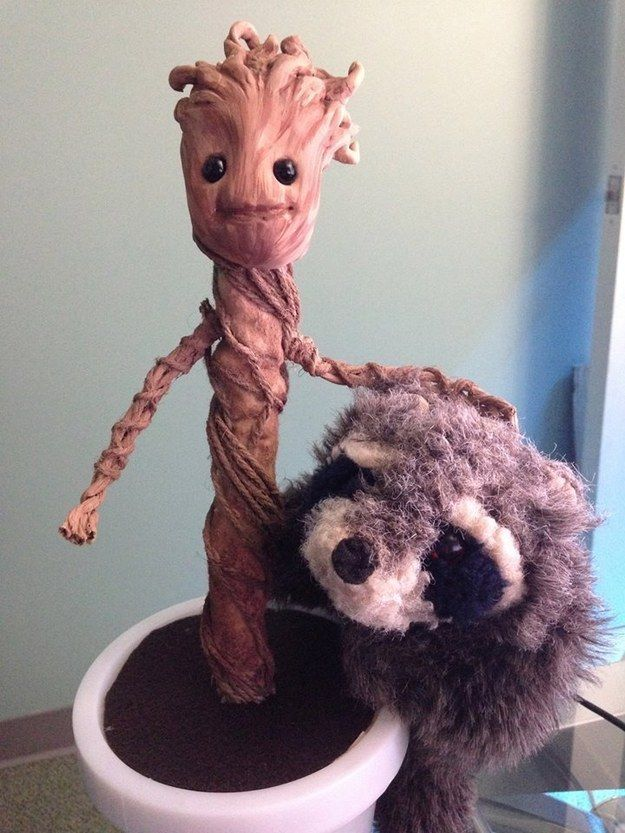 there's a guide on how to make baby groot! my BF would love it:)