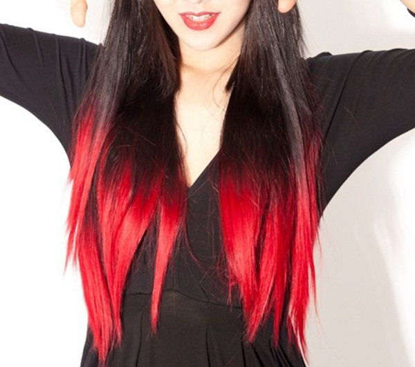 Red Hair Color 8 Dip Dye Hair Red Ombre Hair Ombre Hair Color