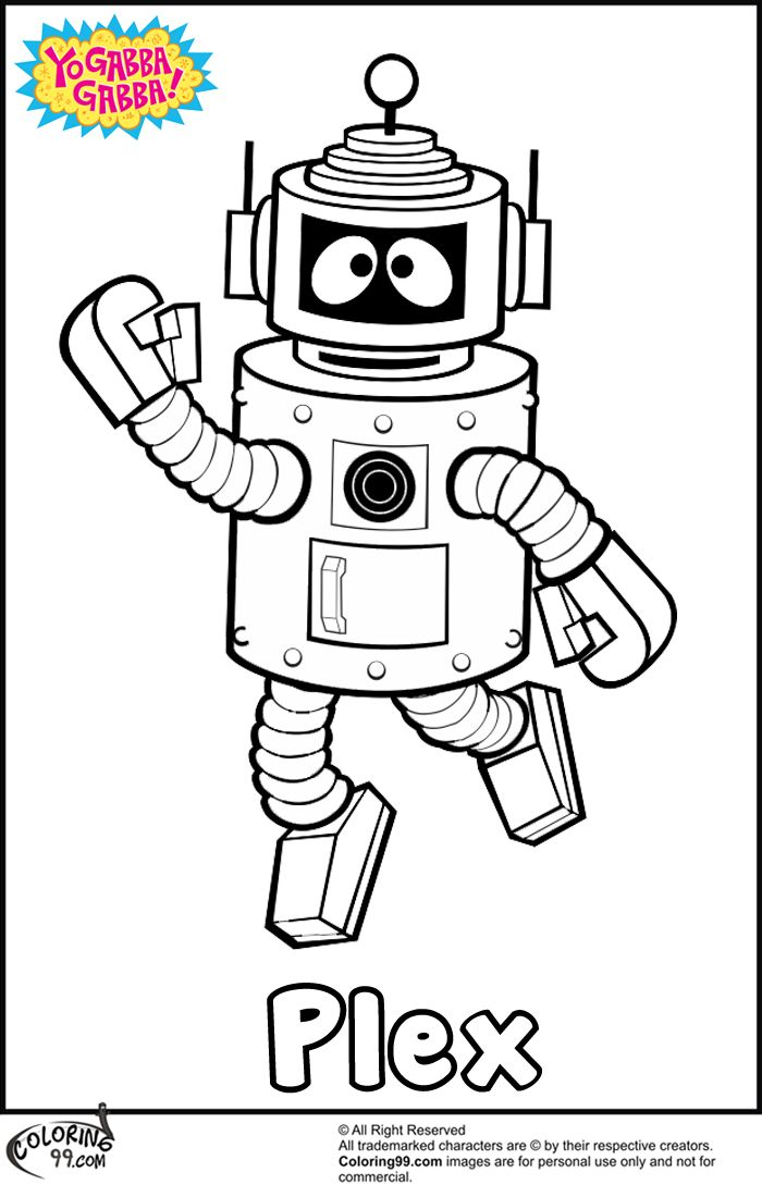 Plex Yo Gabba Gabba Coloring Pages Christmas Coloring Pages