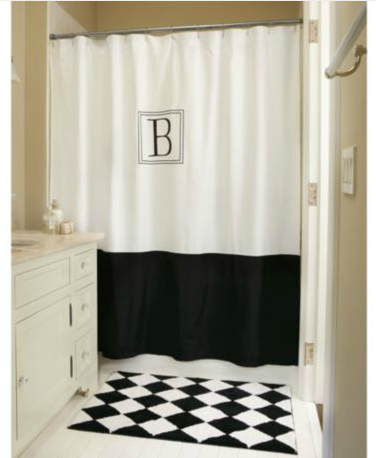 The Hunt For Monogram Shower Curtain Frugal Finds