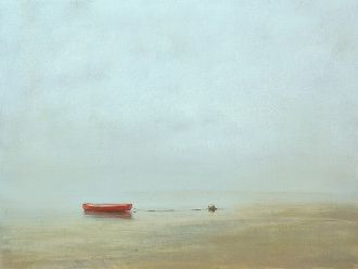 Anne Packard Red Boat 30 x 40 Signed Limited Edition Giclée on Canvas