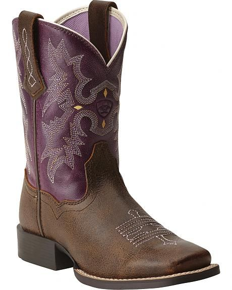 Ariat Youth Girls' Tombstone Boots - Square Toe | Things I just ...