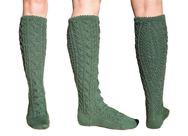 f344d3a132b853 Handgestrickte neue Trachtenstutzen, Herrensocken, Socken 40-42. Das Muster  des Wadenkeils heißt
