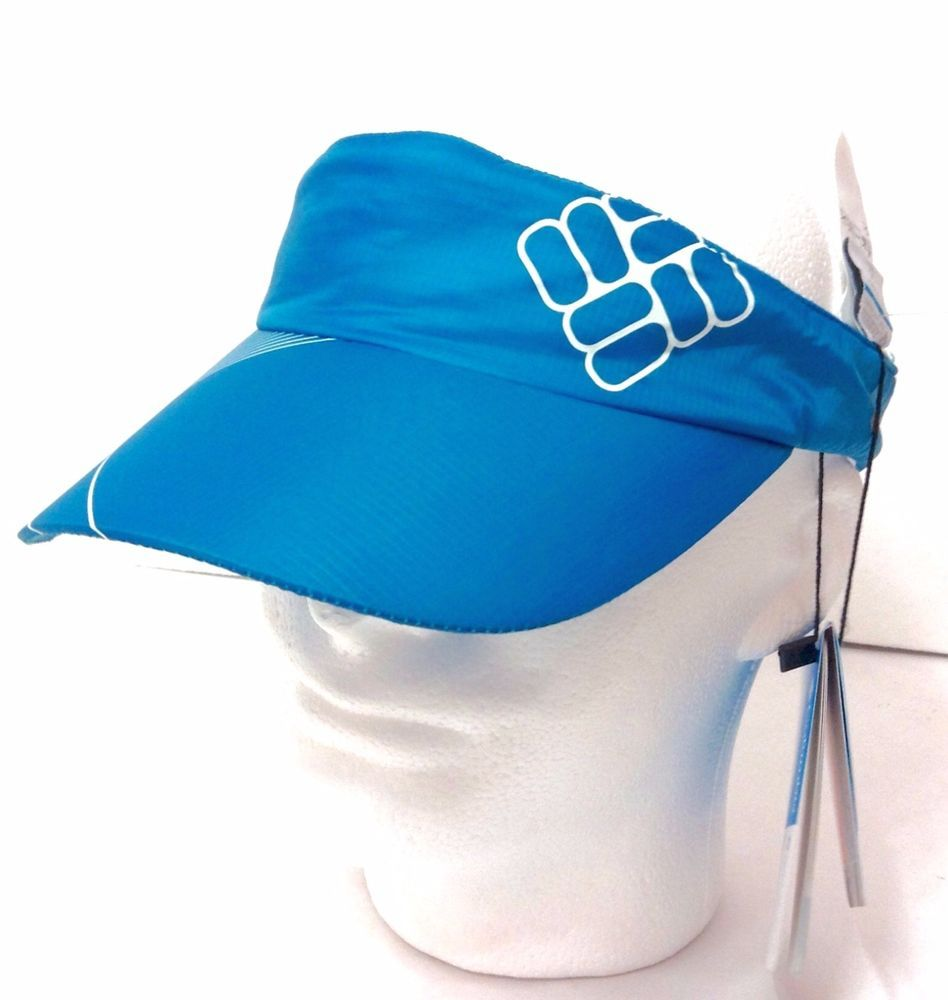 NEW unisex COLUMBIA DRY-FIT VISOR Polyester Outdoor Golf Sun Hat Men/Women Blue #Columbia #Visor